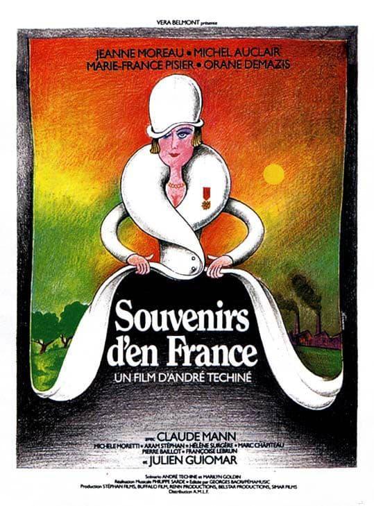 Souvenirs d'en France, affiche originale réalisée par Ferracci