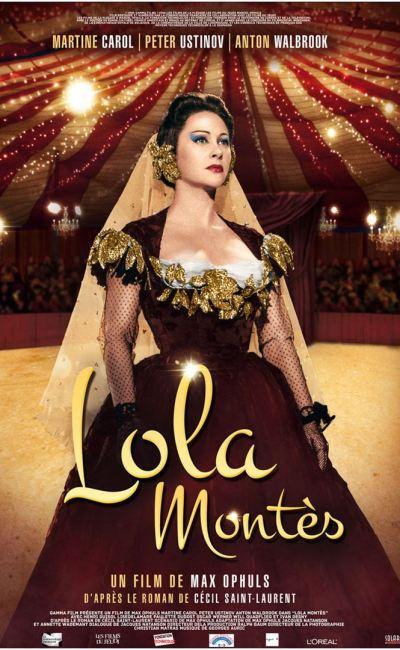 Affiche (reprise 2020) de Lola Montès de Max Ophuls