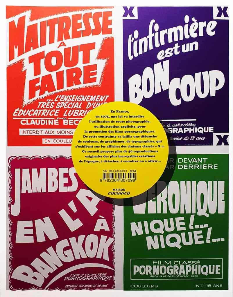 Orgies Graphiques, couverture dos - Maison Cocorico
