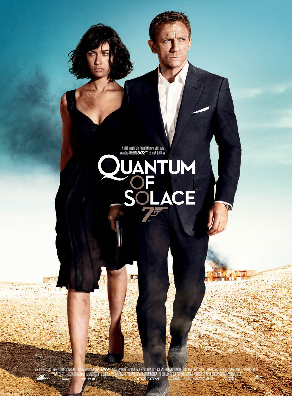 Quantum of solance, affiche du James Bond avec Daniel Craig