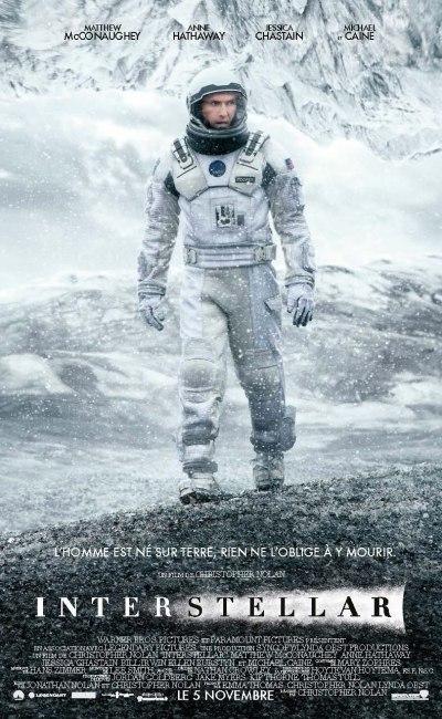 Affiche française d'Interstellar de Christopher Nolan