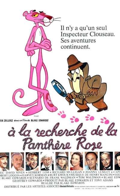 A la recherche de la panthère rose, l'affiche
