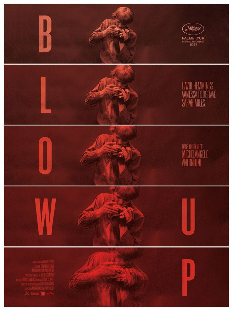 Affiche (reprise) de Blow-Up de Michelangelo Antonioni