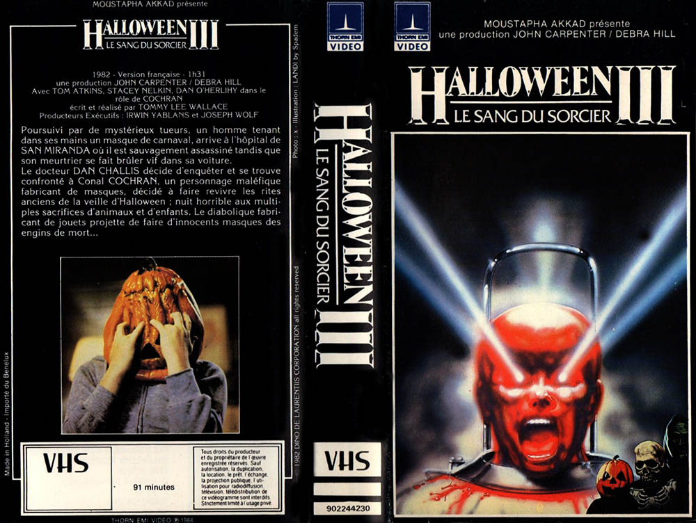 Jaquette VHS d'Halloween III par Landi