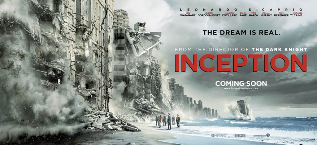 Affiche quad britannique d'Inception de Christopher Nolan