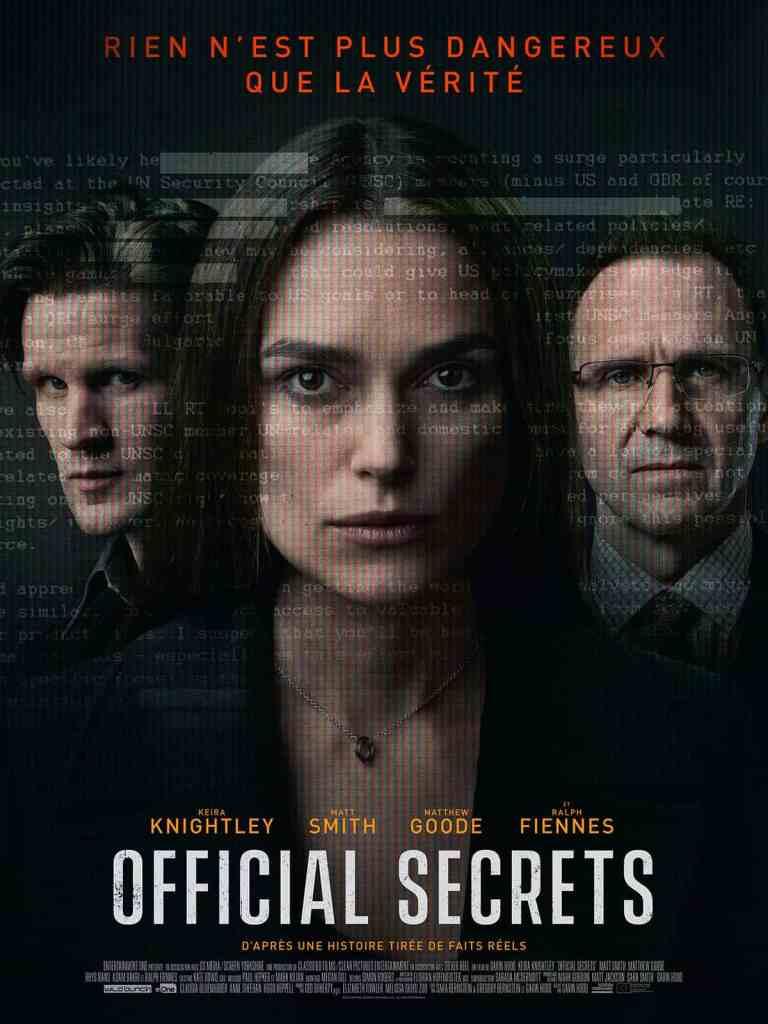 Official secrets : affiche