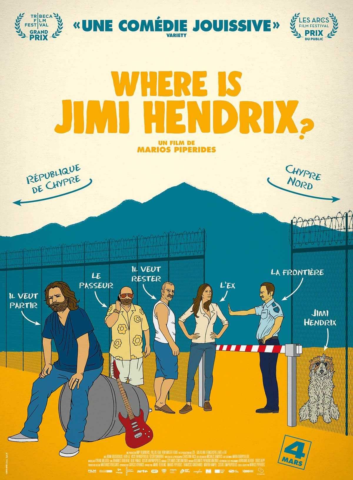 Where is Jimi Hendrix, affiche