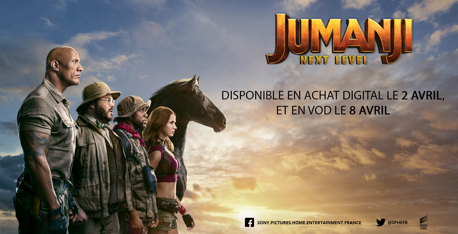 Jumanji NExt Level : publicité VOD