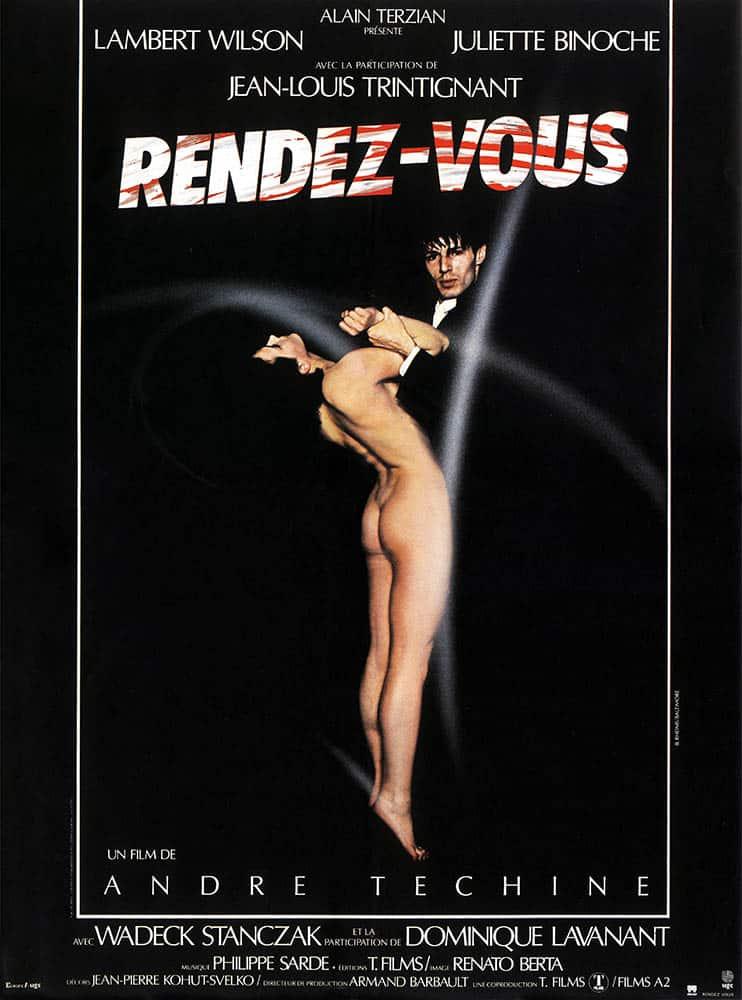 Rendez-vous, affiche du film d'André Téchiné