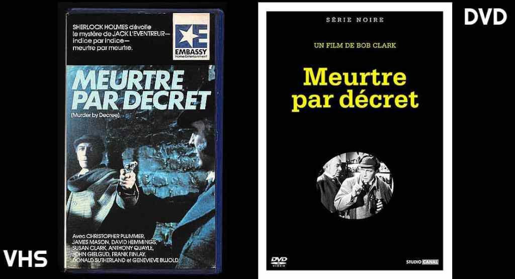 Meurtre par décret, DVD et VHS Embassy