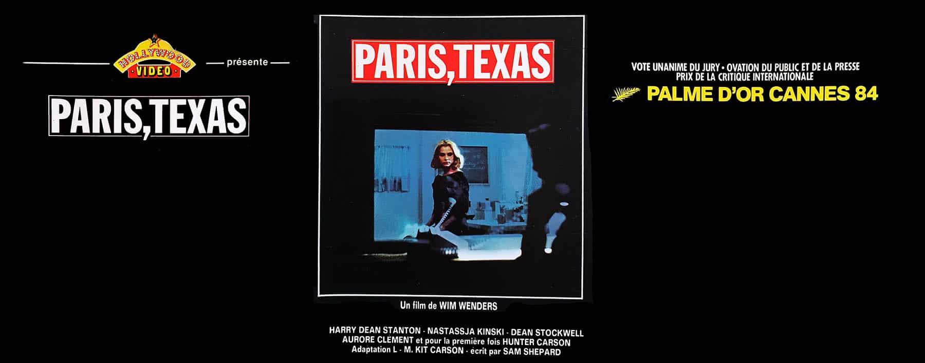 Paris,Texas, jaquette vidéo Hollywood Vidéo VHS