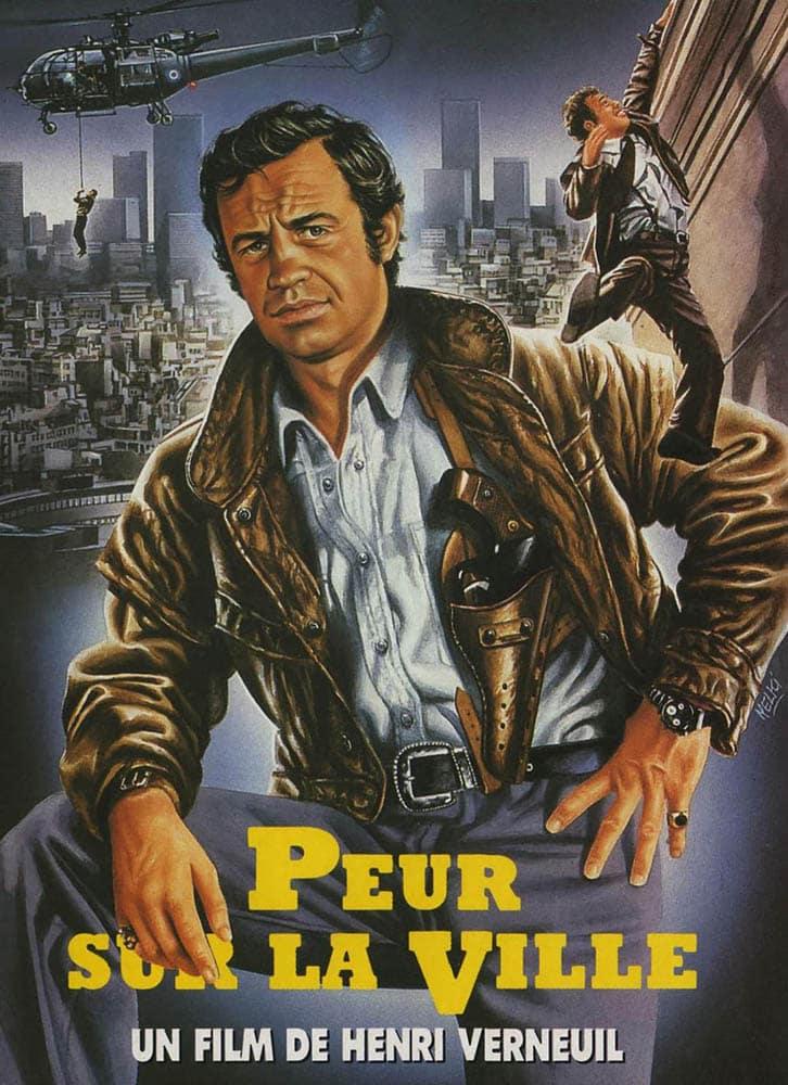 Peur sur la ville, visuel de Melki pour l'édition VHS 1990, chez Fil à Film