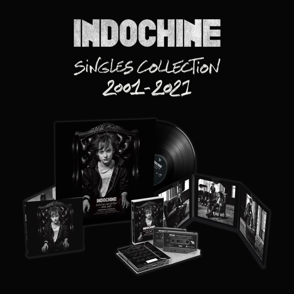 Tous les formats de la singles collection 2001-2021 d'Indochine