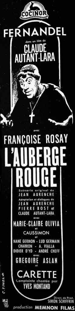L'auberge rouge, promotion autour du tournage du film de Claude Autant-Lara
