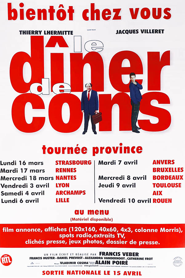Le dîner de cons : plan média - Francis Veber