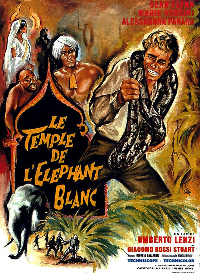 Le temple de l'éléphant blanc d'Umberto Lenzi, affiche par O'kley