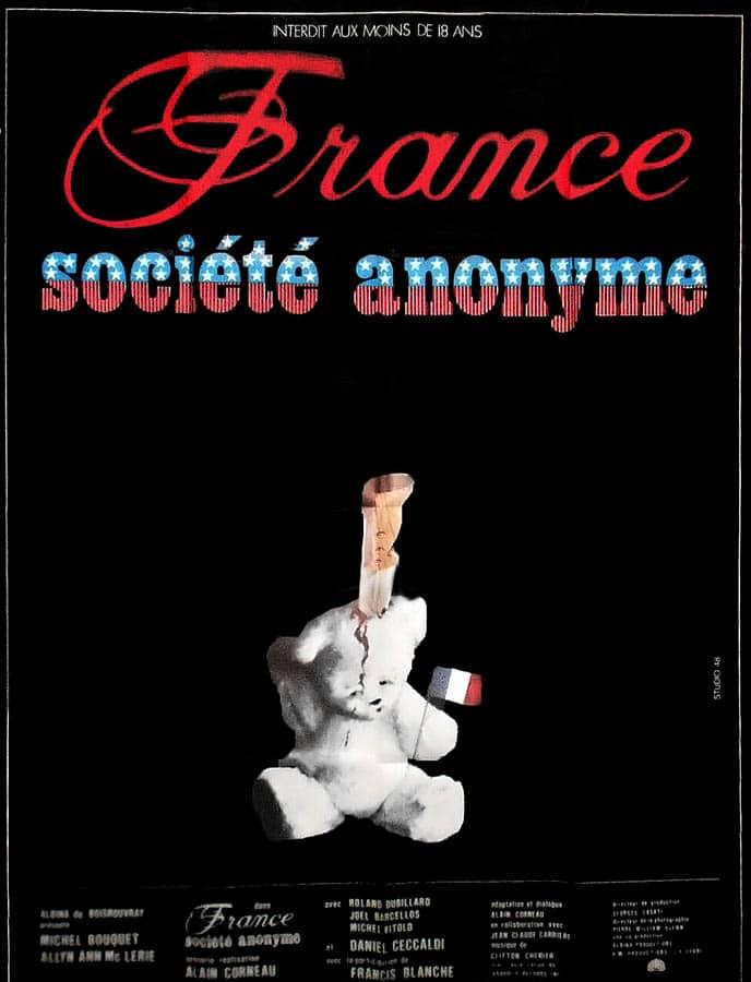France société anonyme affiche cinéma