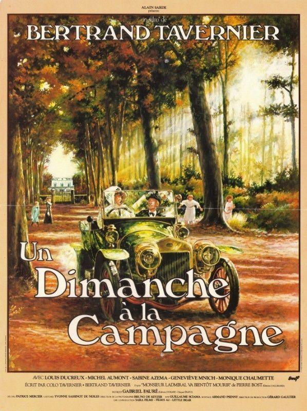 Affiche d'Un dimanche à la campagne de Bertrand Tavernier