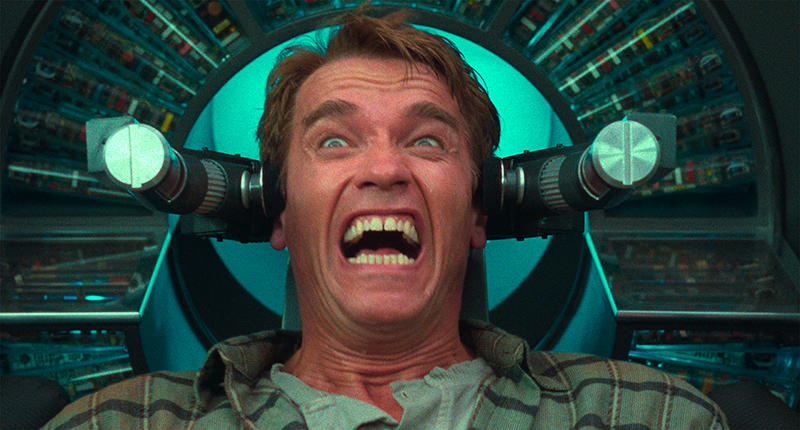 Arnold Schwarzenegger dans Total Recall, 4K