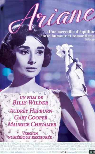 Ariane, affiche de la reprise du classique de Billy Wilder (2020), avec Audrey Hepburn