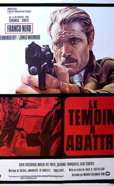 Le témoin à abattre, affiche du film de Castellari (Warner 1975)
