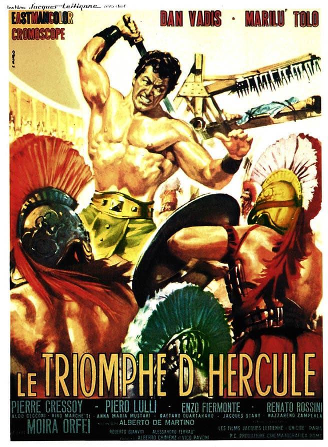 Le triomphe d'Hercule avec Dan Vadis, affiche cinéma
