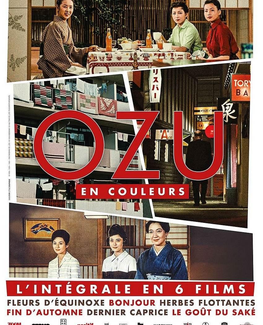 Affiche de Ozu en couleurs