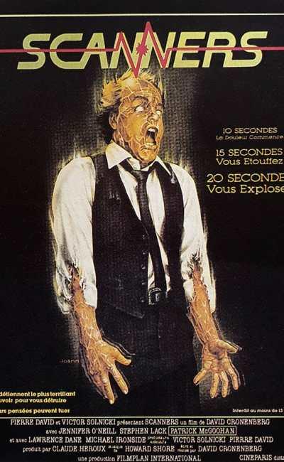 Affiche 1981 originale de Scanners
