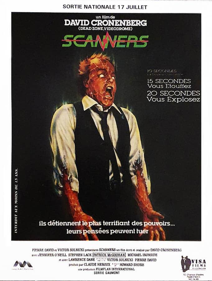 Affiche de la reprise 1985 de Scanners