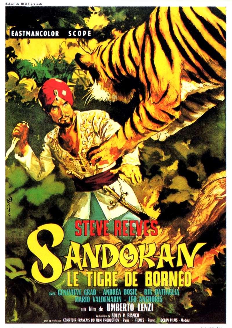Sandokan, le tigre de Bornéo, l'affiche