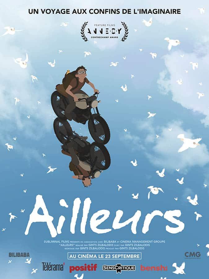 affiche du film d'animation Ailleurs de Gints Zilbalodis