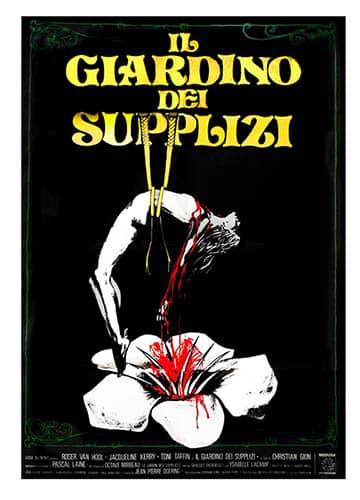 Le jardin des supplices, affiche italienne