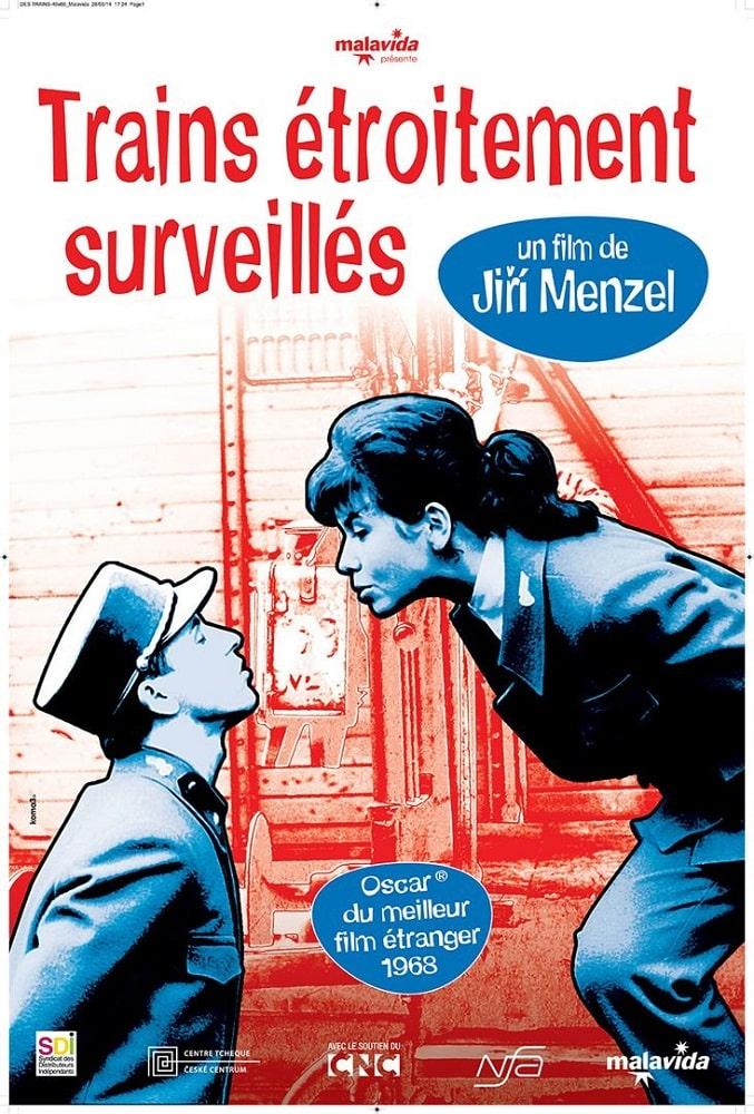 Affiche française (reprise) de Trains étroitements surveillés de Jiri Menzel