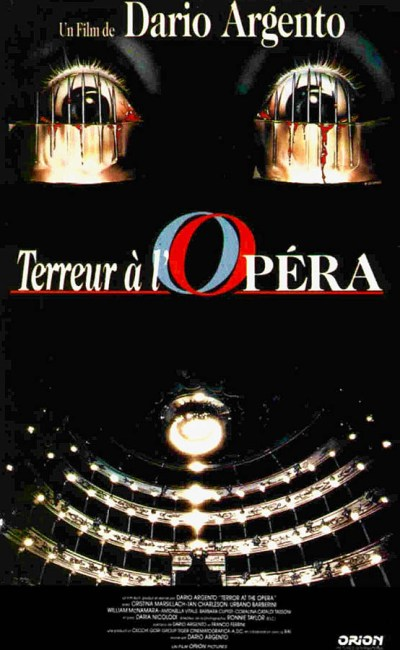 Jaquette VHS de Terreur à l'opéra de Dario Argento