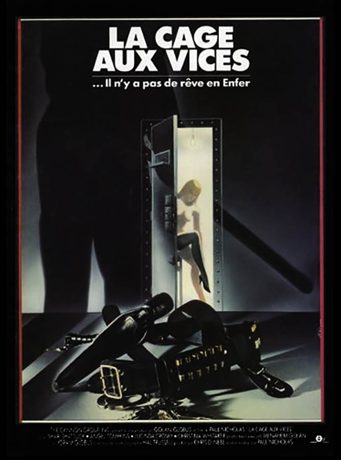 La cage aux vices, affiche cinéma