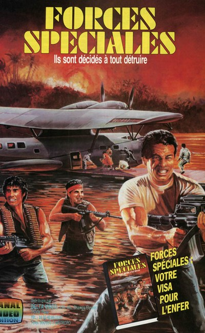 Forces spéciales (Raw Force), jaquette, cover VHS 1986