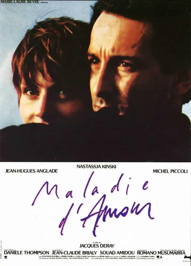 Maladie d'amour, affiche du film de Jacques Deray
