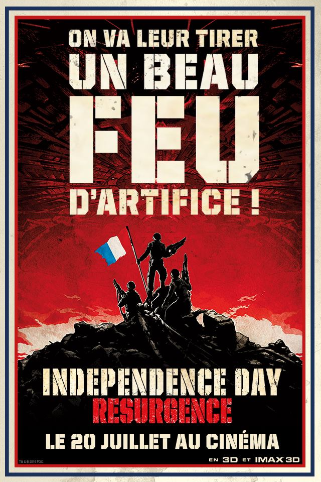 Independence Day Resurgence affiche du 14 juillet