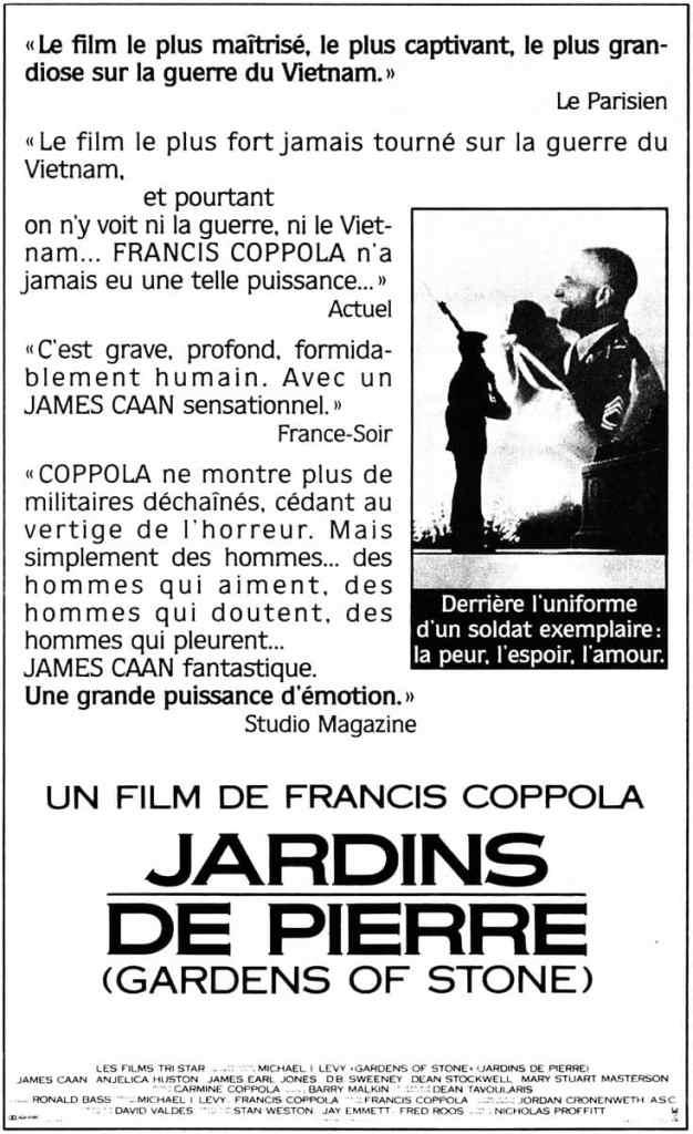 Jardins de pierre, les critiques du film de Francis Ford Coppola