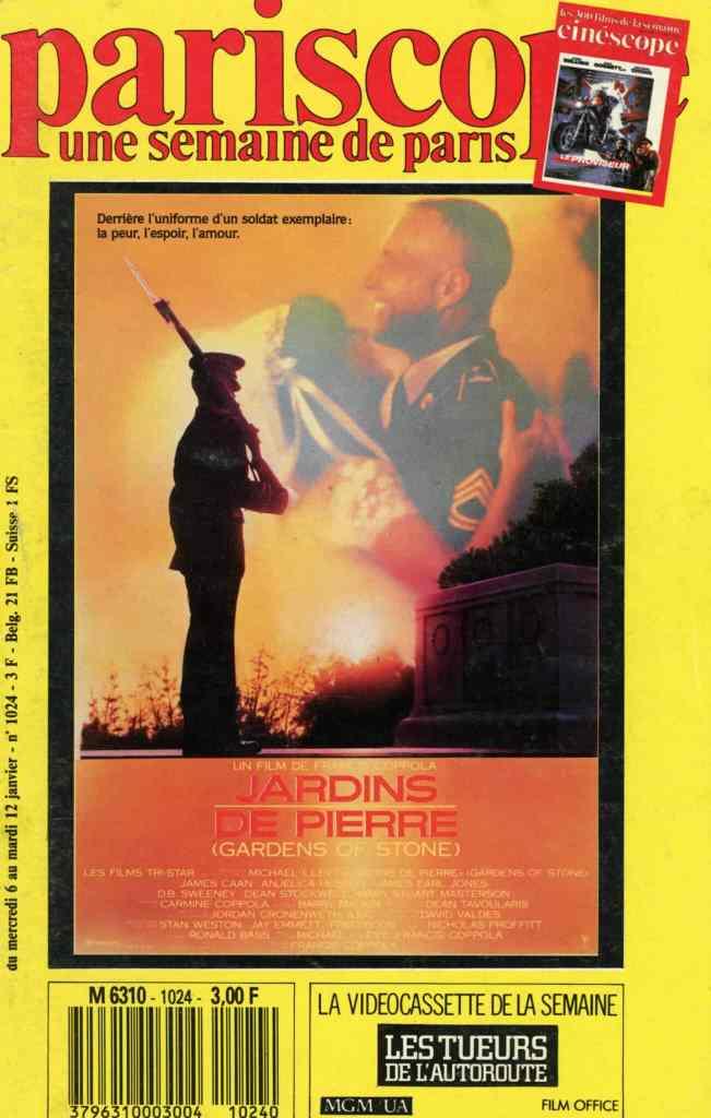 Jardins de pierre, en couverture du Pariscope en janvier 1988