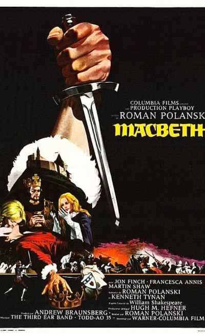 Macbeth, l'affiche du film de Roman Polanski (1971)