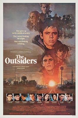 Affiche américaine de The Outsiders, par David Grove