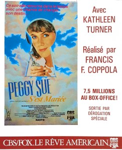 Peggy Sue s'est marié, archives cinédweller, sortie VHS CBS Fox