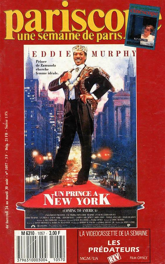 Un prince à New York en couverture du pariscope