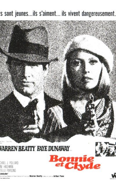Bonnie et Clyde, affiche du film d'Arthur Penn, avec Warren Beatty