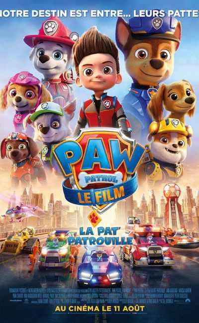 Paw Patrol, le film, la pat patrouille, affiche du film