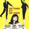 Une femme est une femme de Jean-Luc Godard (affiche 1961, © Chica)