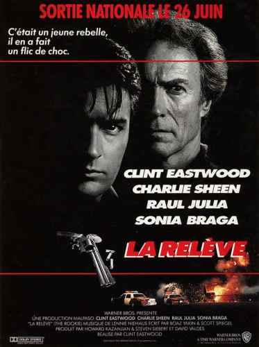 La relève de Clint Eastwood, avec Charlie Sheen, affiche du film
