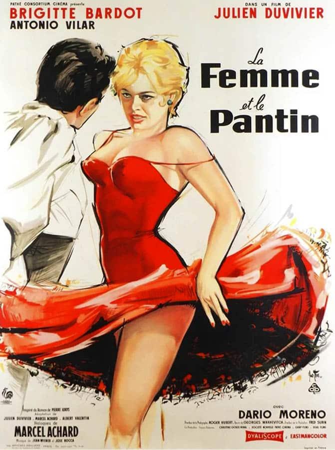 La femme et le pantin de Julien Duvivier, affiche (1959)