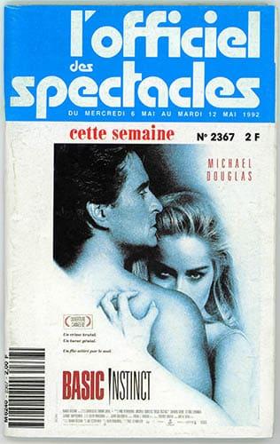 L'Officiel des Spectacles - Couverture du numéro 2367 -du 6 mai 1992